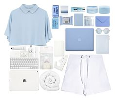 """""""Blue meets White   Special Collab!!"""" by trnslucid ❤ liked on Polyvore featuring Whistles, Proenza Schouler, Aveda, Acne Studios, Deborah Lippmann, Clinique, CASSETTE, Brinkhaus, Moleskine and Topshop"""