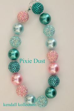 """Pixie Dust"" Chunky Beaded Necklace for women, girls, kids"