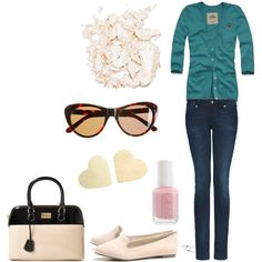 Like the cardigan and the sunglasses.