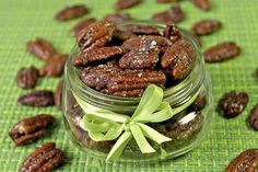 maple and sea salt pecans