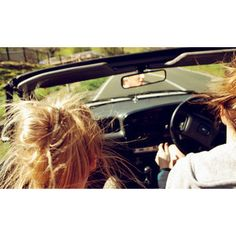 Ok, if this isn't a good manifestation image I don't know what is......two blondes on the open road! ;)