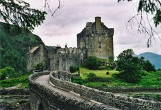 Eilean Donan Castle in Scotland. My Friend Jen would really like this picture.