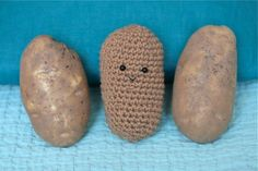 crochet potato to go with I'm Bored.