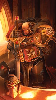 A Deathwatch Veteran honours the Emperor of Mankind. The Deathwatch Space Marines serve the Ordo Xenos of the Imperial Inquisition as its Chamber Militant, the warriors of last resort when the Inquisition needs access to firepower greater than the Imperial Guard or a team of its own Acolytes or even Throne Agents can provide.