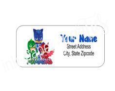 PJ Masks Owlette Catboy Gekko Return Address by InkPaperParties