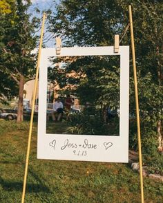 Stunning DIY Wedding Photo Booth Backdrops This giant polaroid frame is a great spin on a photobooth.This giant polaroid frame is a great spin on a photobooth. Wedding Bells, Our Wedding, Dream Wedding, Wedding Tips, Wedding Simple, Trendy Wedding, Wedding Ceremony, Perfect Wedding, Diy Wedding Games