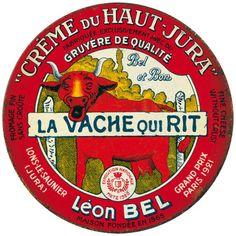 """1921 : la Vache qui rit est née    D'abord baptisée """"Fromage moderne"""", la Vache qui rit adopte son nom mythique en 1921. Léon Bel, son créateur, s'inspire de l'image de la vache souriante regadant le consommateur pour lui donner ce drôle de nom inchangé depuis.  http://www.plurielles.fr/recettes-cuisine/diaporama/decouvrez-la-saga-de-la-vache-qui-rit-en-images-6298202-402.html"""