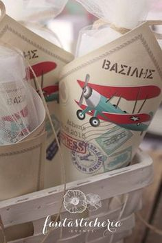 Vintage Airplane Party, Vintage Airplanes, Baptism Decorations, Baptism Party, Travel Themes, Christening, Baby Boy, Birthday, Handmade