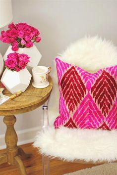 Una ecxelente forma de armonizar tu espacio con flores y color,