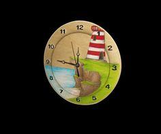 Horloge design unique fait main/ handmade par MaristineDesign