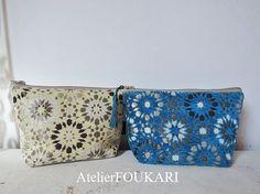 モロッコアラベスク柄ファブリックの化粧ポーチ・モザイクタイル - モロッコ雑貨とモロッコファッション Atelier FOUKARI