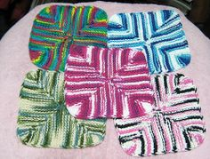 FREE 4-Corners Dishcloth pattern by Abigail - 1870pearl