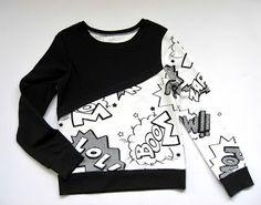 Cooller Pullover für Kinder zum selber nähen - Idee im Link
