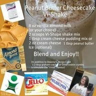 peanut butter, cheesecake, shake, almond, weight loss, recipes, body by vi
