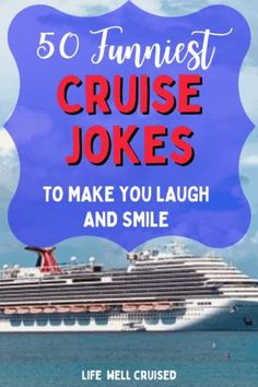 50 Funniest cruise jokes, sayings, memes and puns. These days, we could all use a laugh , and this post will leave you laughing and thinking about great cruise vacations and cruise memories. #cruise #cruiseokes #jokes #kidsjokes Cruise Packing Tips, Cruise Travel, Cruise Vacation, Vacations, Best Cruise, Cruise Port, Carnival Cruise Ships, Cruise Ship Reviews