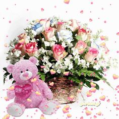 You searched for label/ΑΓΑΠΗ & ΕΡΩΤΑΣ - Giortazo. Beautiful Roses, Floral Wreath, Happy Birthday, Hearts, Wreaths, Decor, Flowers, Love, Happy Brithday