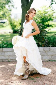 67e2b72c62c4 Country Style V Neck Cap Sleeves Boho Layers Sheer Sexy Bridal Gown