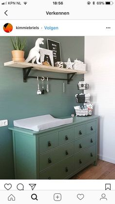 living room ideas – New Ideas Baby Bedroom, Baby Boy Rooms, Baby Room Decor, Baby Boy Nurseries, Kids Bedroom, Dinosaur Kids Room, Green Boys Room, Kids Dressers, Baby Time