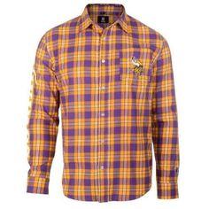Minnesota Vikings Wordmark Basic Flannel Shirt Viking Men 9d3f87061