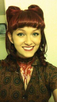 50's pin up girl. Mafia. Halloween. Hair