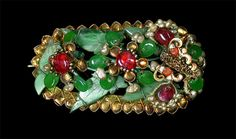 Chinese head jewel with jadeite. China, Qing dynasty (1644-1911)