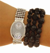 Sale: Swarovski cuff bracelet watch -Dual Time –Instant View Two Time Zones watches Save to 86% off Christmas Sale