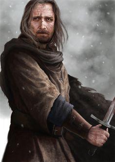 warrior II by digital-fantasy.deviantart.com on @deviantART.  A beautiful, haunted piece.