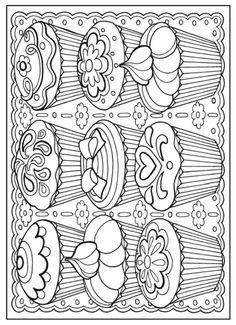 Creative Haven Designer Desserts Coloring Book, Dover Publications Make your world more colorful with free printable coloring pages from italks. Our free coloring pages for adults and kids. Food Coloring Pages, Adult Coloring Book Pages, Printable Adult Coloring Pages, Coloring Sheets, Coloring Pages For Kids, Free Coloring, Creative Haven Coloring Books, Dover Publications, Mandala Art