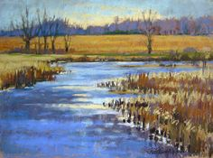Parker Wetlands Painting, Pastel Painting by Jill Stefani Wagner