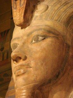 Details from statue of Tutankhamun at the Oriental Institute,Chicago.
