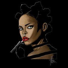 #rihanna #fashion #fentybeauty #illustration #art #makeup