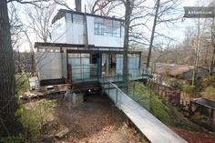Modern Glass Tree House in Atlanta