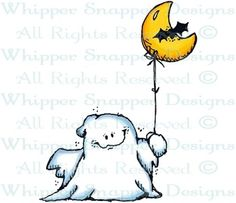 Moon Balloon Ghost - Halloween Images - Halloween - Rubber Stamps - Shop