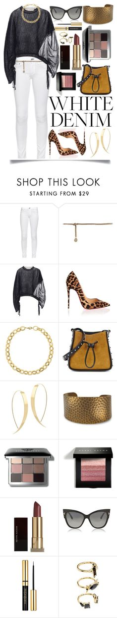 """""""White Jeans"""" by ittie-kittie on Polyvore featuring rag & bone, Marni, Christian Louboutin, Laundry by Shelli Segal, 3.1 Phillip Lim, Lana, Bobbi Brown Cosmetics, Kevyn Aucoin, Tom Ford and Noir Jewelry"""