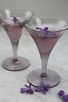 Violet Simple Syrup & recipe for Candied Violet Martini