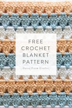 Here are some of our favorite crochet baby blanket patterns we've made using Caron Simply Soft yarn! Here are some of our favorite crochet baby blanket patterns we've made using Caron Simply Soft yarn! Crochet Afghans, Crochet Stitches Free, Afghan Crochet Patterns, Baby Blanket Crochet, Knitting Patterns, Crochet Blankets, Baby Blankets, Graph Crochet, Ravelry Crochet