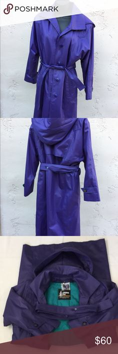 London Fog Purple insulated trench coat size 6P Brighten you your winter with this beautiful purple London Fog thermal insulation with 3M trench coat. This has a removable lining and detachable hood. Comes with extra button. New without tag. London Fog Jackets & Coats Trench Coats