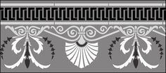 Regency and Empire Border No 1 stencils