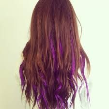 brown hair with subtle purple highlights