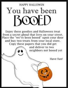 Love this Halloween tradition #freeprintable
