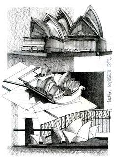 Sydney opera house on behance. sydney opera house on behance architecture sketchbook Architecture Drawing Sketchbooks, Architecture Concept Drawings, Famous Architecture, Watercolor Architecture, Architecture Portfolio, Art And Architecture, Classical Architecture, Building Sketch, House Sketch