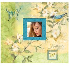 <div>Insert your favorite photographs and treasures in this colorful botanical-themed scrapbook ...