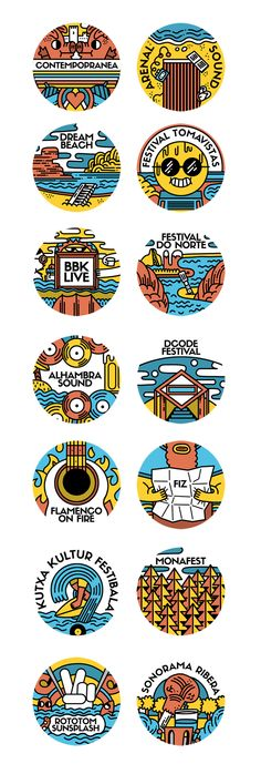 Summer fest in Spain. by Juan Díaz-Faes, via Behance