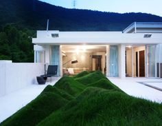 Remarkable Penthouse  with Undulating Lawn on the Terrace By Design Systems