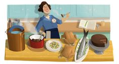 Julia Child Google Doodle | Computer Idee