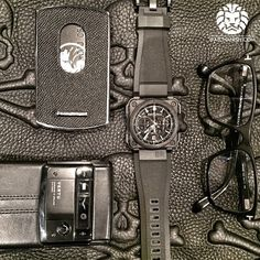 Bell & Ross BRX1 All Black carbon chronograph with some of the today's essentials.