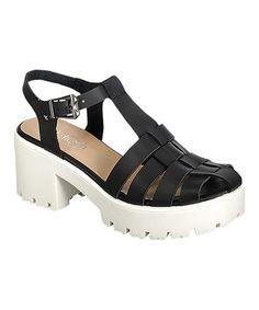 Love this Black Citrus Platform Sandal by Refresh on #zulily! #zulilyfinds