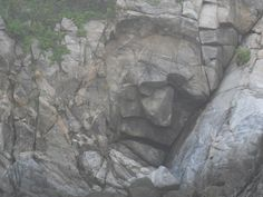 """""""Rostro de Piedra"""" or """"Face in the Wall"""" is located on the edge of Chahue Bay and is just on of the many natural rock formations that atracts thousands of tourists each year."""