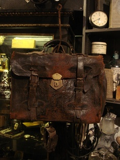 Old Leather Steampunk Satchel Travel Bag