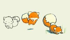 Super cute fox sketch www. Fox Illustration, Illustrations, Drawing Dragon, Animal Drawings, Cool Drawings, Kawaii Drawings, Cute Fox Drawing, Cartoon Fox Drawing, Fox Sketch